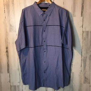 Men's blue shirt sleeve button down